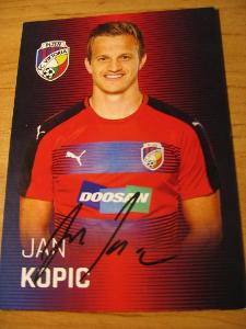 Jan Kopic - Viktoria Plzeň - orig. autogram