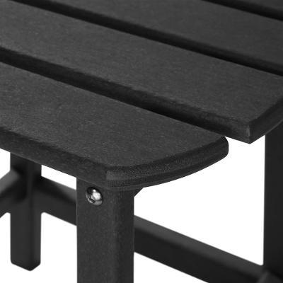 tectake 404171 zahradní židle janis s odkládacím stolkem - černá