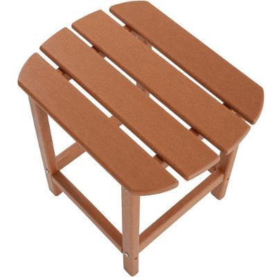 tectake 404172 zahradní židle janis s odkládacím stolkem - hnědá