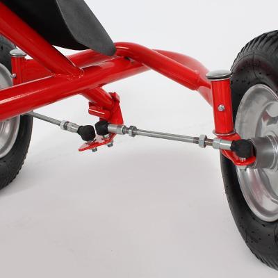 tectake 400771 šlapací auto pro dva - červená