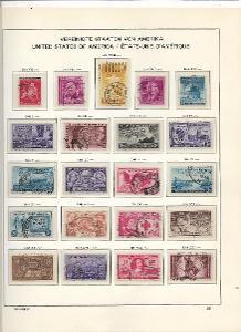 3 albové listy starých známek  USA