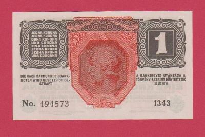 1 K r.1916, s.1343, č.494573. Sbírková, UNC