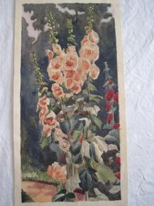 133/obraz O.Kříž 1911 Květiny květy-orig. akvarel!!!