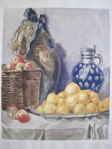 134/original obraz O.Kříž 1911 Myslivecké zátiší s bažantem -50x35cm!
