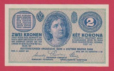 2 K 1914 s.  626763, č.1442, pěkná,  aUNC