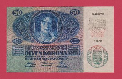 50 K 1914, s.1076, č.949979, Sbírková, stav UNC