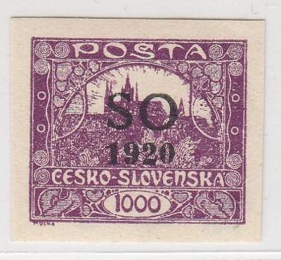 22. Hradčany - 1000h - SO 1920 - zk. Gilbert, Vrba ** ČERNÝ PŘETISK !!