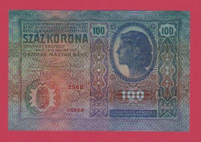 100 K 1912, s.2062, č.76684, Sbírková, stav UNC