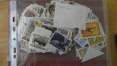 500 ks  známek celý svět   - výprodej