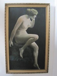 1239/POZOR! obrovský TOP obraz-ŽENA-akt! 1900!! velká sleva