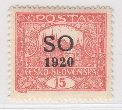 28. Hradčany - 15h - SO 1920 -zk. Vrba - 1. sp.  - ** 13 3/4: 11 1/2
