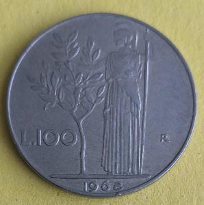 Itálie 100 lira 1968