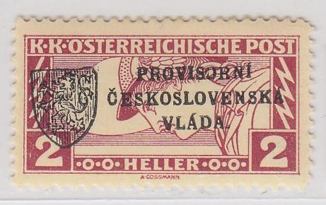 36. Revoluční 1918 - 2h spěšná - Pražský přetisk I - zk. Vrba **