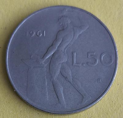Itálie 50 lira 1961