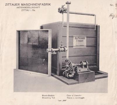 Leták bělící kádě Zittauer Maschinenfabrik