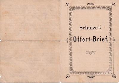 Leták kuželky Gottlieb Schulze