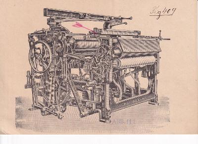 Leták pletací stroj E. Bauch C. G. Hostinné