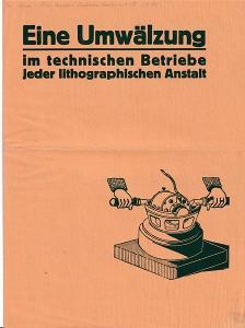 Leták přístroje na litografii Tomby, Kiel