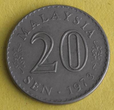 Malaysie 20 sen 1973