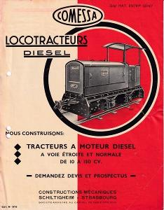 Leták Loko-traktory Diesel Comessa, Štrasburk