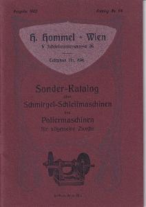Katalog brusky, lešticí stroje Hommel, Vídeň