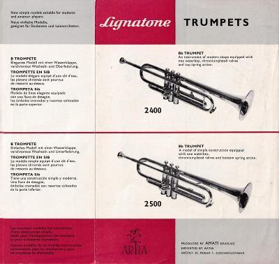 Leták trumpety Artia, Amati Kraslice