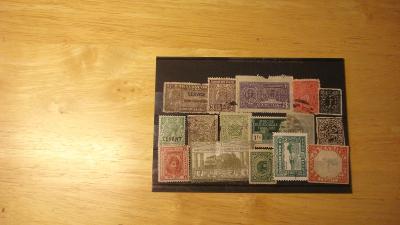 Neidentifikované známky - různá kvalita