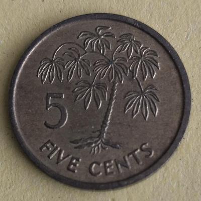 Seychely 5 cent 1995