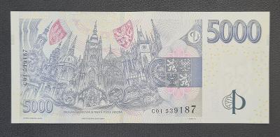 5000 Kč 2009, Nejvzácnější První Série C 01 !!! UNC