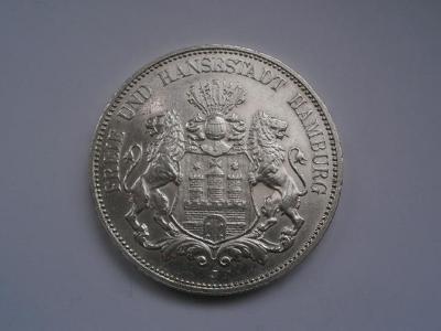 Velice krásná 5-ti marka Hamburg 1913-sbírkový kus-zachovalost - 0-0-