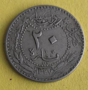 Turecko 20 para 1909