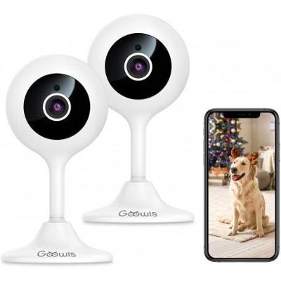 Bezdrátová bezpečnostní Wi-Fi kamera Goowls, Full HD1080p