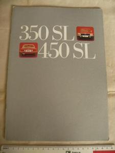 MERCEDES-BENZ automobil prospekt 350SL, 450SEL německy 70.léta