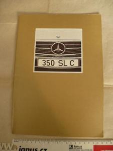 MERCEDES-BENZ automobil prospekt model 350SLC německy 70.léta