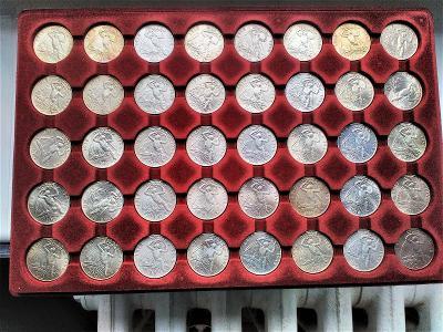 Stříbrná mince 100 Kčs Vznik Československa 30. výročí 1948 40 kusů.