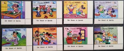 Disney Grenadines dětské, 8 ks známek, krásná série