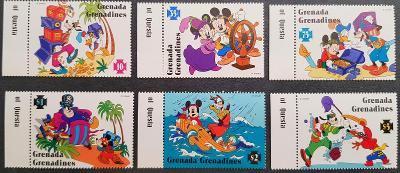 Disney Grenadines dětské, 6 ks známek, krásná série