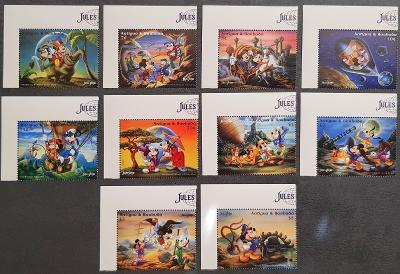 Disney Antigua dětské, 10 ks známek Jules Verne, krásná série