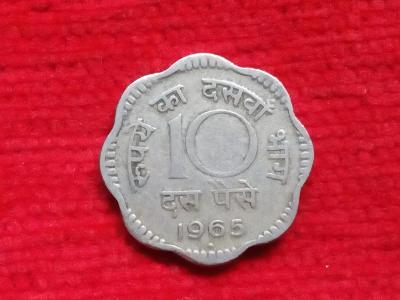 Indie 10 paisa 1965 minc. Mumbai