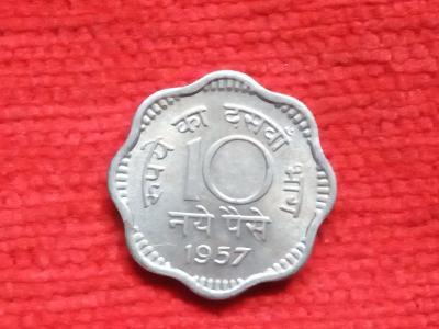 Indie 10 paisa 1957 minc. Calcutta