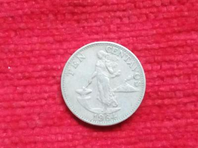 Filipiny 10 centavos 1964