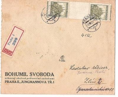 R dopis, meziarší Kutná Hora !!! použitá v Protektorátu  4. 8. 1939