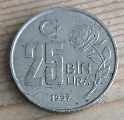 Turecko 25 lira 1997