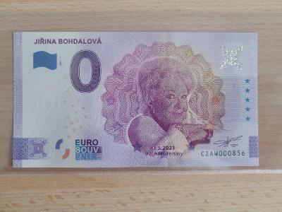 Jiřina Bohdalová Euro souvenir 2021, NÍZKÉ ČÍSLO! ! !