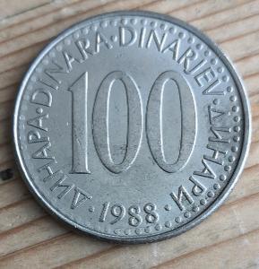 Jugoslavie 100 dinar 1988