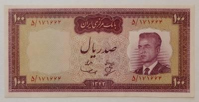 IRÁN (P077) 100 Rials 1963 XF+