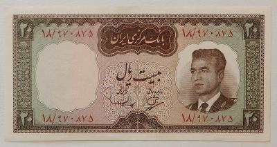 IRÁN (P078a) 20 Rials ND(1965) UNC