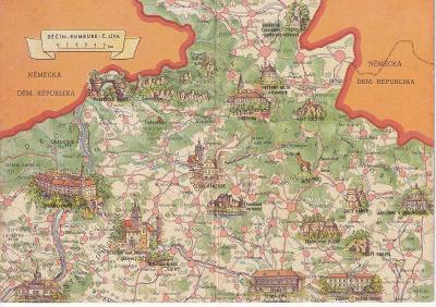 Československo-Děčín Rumburk-Č.Lípa-mapa-památky-VF