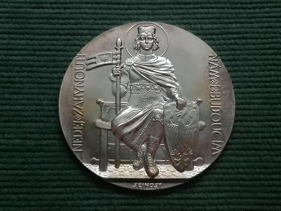Ag medaile Dokončení stavby chrámu sv. Víta, 1929/2017, Ag 925, 70 mm