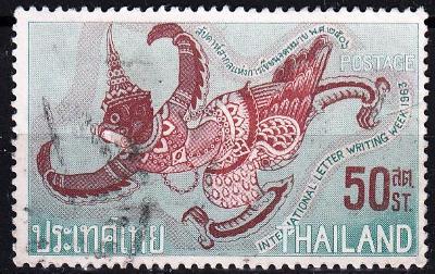 Thajsko 1963 Mi.430, prošla poštou
